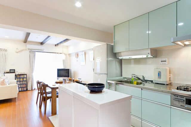 2. キッチンが空間全体に占める割合も考える