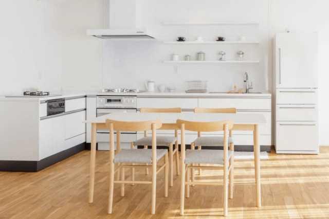 L型キッチンを使いやすくするレイアウト