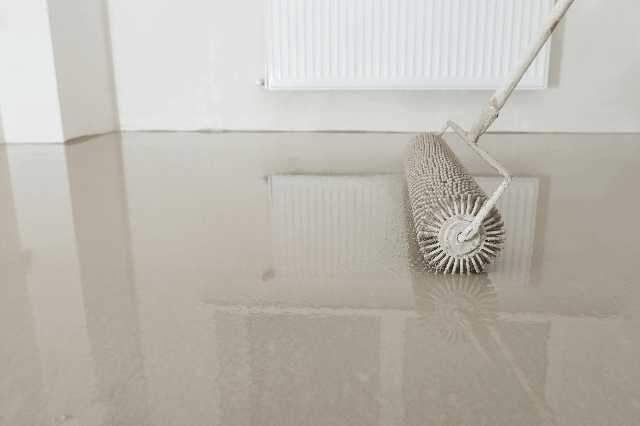 モルタルの床は清潔感と爽やかさで人気