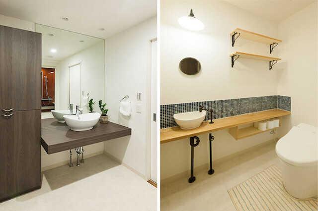 トイレの手洗いカウンターを選んでこだわりの空間に♪ | リフォーム費用の一括見積り -リショップナビ