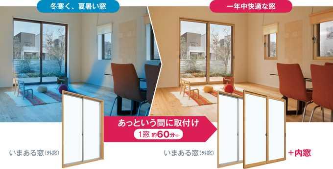 YKK AP『かんたん マドリモ 内窓 プラマードU(Low-E複層ガラス仕様)』