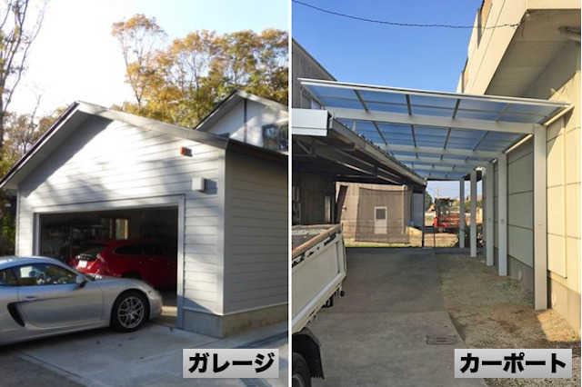 「カーポート」と「ガレージ(車庫)」の違い