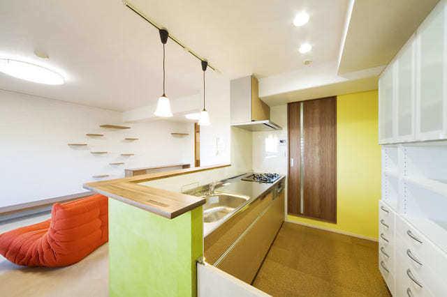 キッチンスペースの模様替えが可能