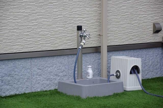 水道・室外用コンセントを設置しておくと便利