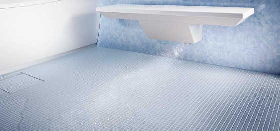 「きれい除菌水」で除菌もしてくれる(床ワイパー洗浄)
