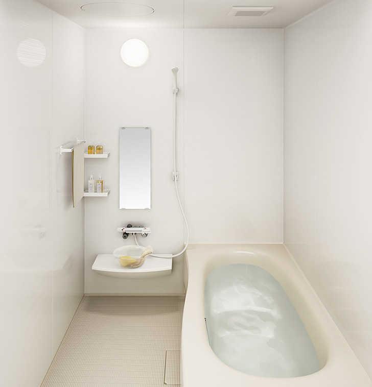 ③浴槽の形は「たまご型」や「コーナー型」などの種類もあり